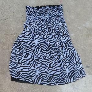 Zebra stripe strapless dress or coverup